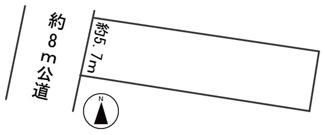 【区画図】56148 羽島市福寿町浅平土地