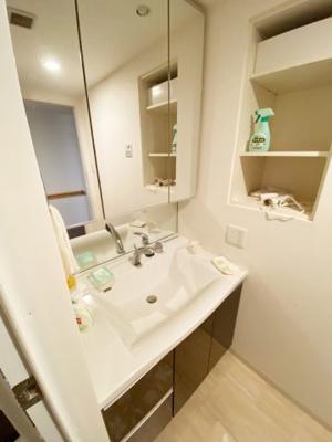 シャワー付きの洗面化粧台