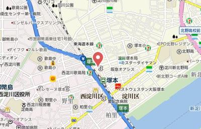 【地図】ダイアパレス塚本