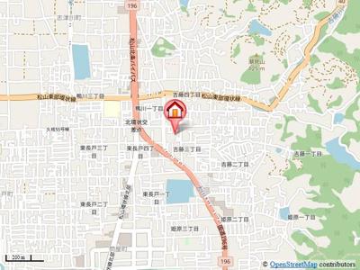 【地図】メゾン花梨
