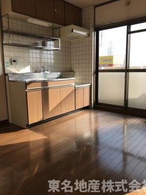【キッチン】コーポラス水口
