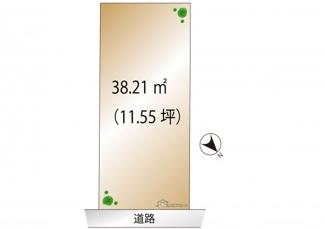 【土地図】千代田区飯田橋1丁目 建築条件なし土地