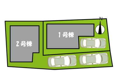 【区画図】西宮市小松町 新築戸建