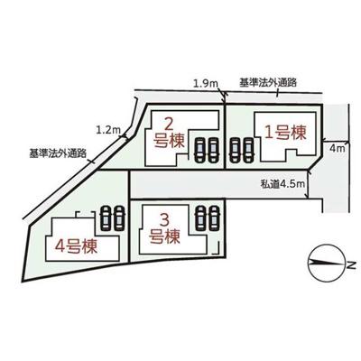 【区画図】小野市天神町16期 4号棟