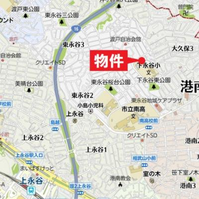 【地図】東永谷1丁目中古戸建