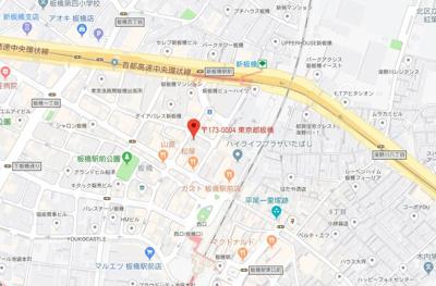 【地図】グランヴァンジーベック板橋