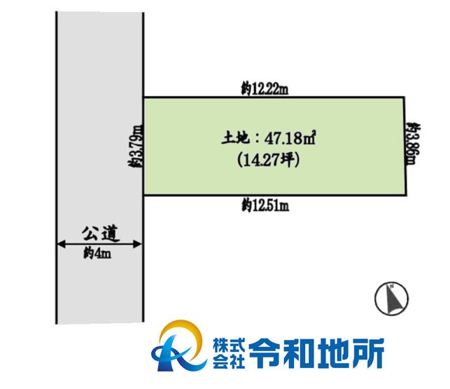 【土地図】売地 茅ヶ崎市浜之郷