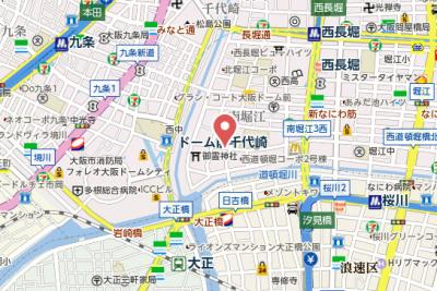 【地図】ポルト・ボヌール南堀江ミラージュ
