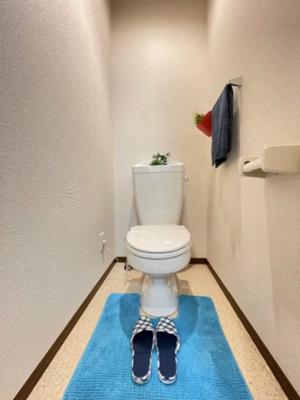 人気のバストイレ別です♪冬に特に嬉しい暖房便座機能も完備☆横にはタオルを掛けられるハンガーもあります♪