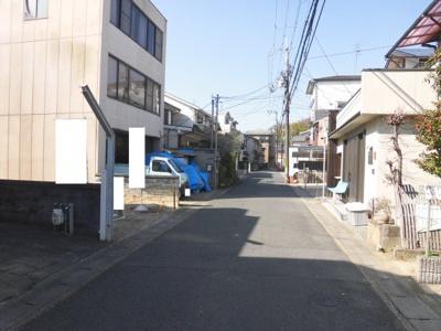 【前面道路含む現地写真】京都市伏見区桃山町西尾