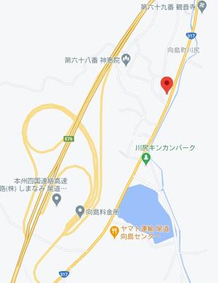 【地図】尾道市向島町 中古戸建