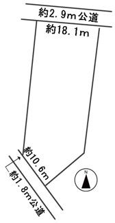 【区画図】56103 岐阜市長良西山前土地