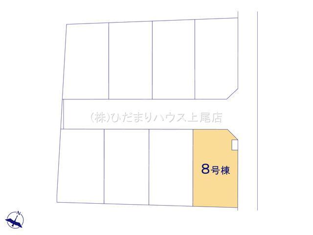 【区画図】上尾市上 15期 新築一戸建て グラファーレ 08