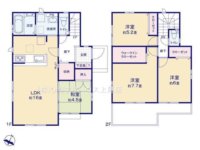 上尾市上 15期 新築一戸建て グラファーレ 02