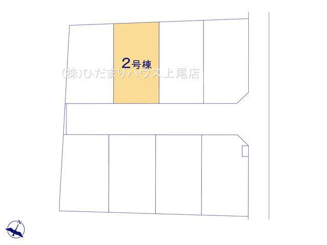 【区画図】上尾市上 15期 新築一戸建て グラファーレ 02