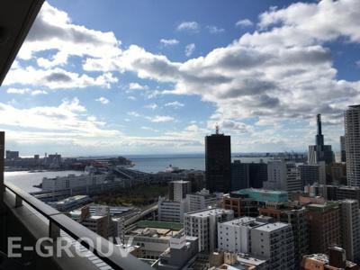お部屋からの眺望です!南側は海が望める眺望良好のお部屋です!29階建の26階部分です♪