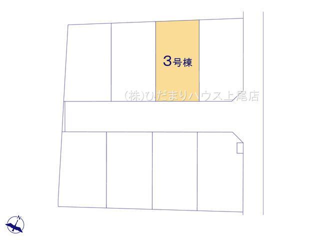 【区画図】上尾市上 15期 新築一戸建て グラファーレ 03