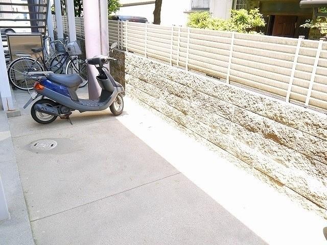自転車置場があります