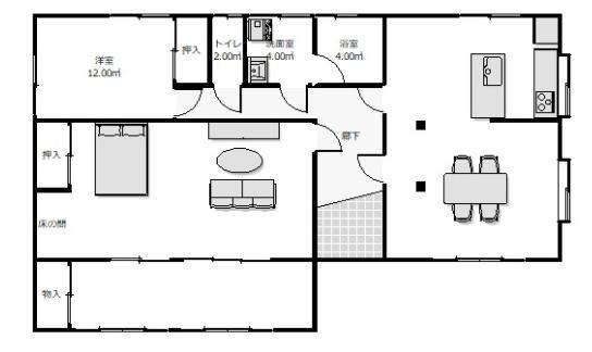 2LDK 生活しやすい平屋建です。陽当りが良いですよ。