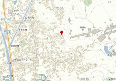 【地図】尾道市東則末町 中古戸建