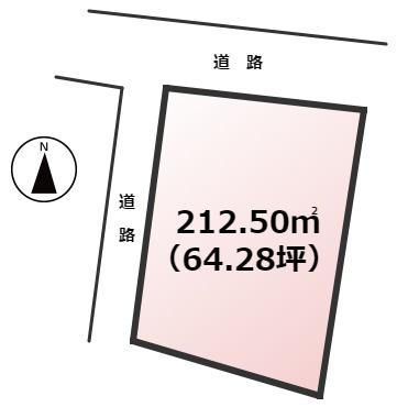 【土地図】東区和白東5丁目土地