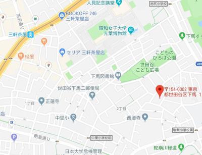 【地図】ファイン三軒茶屋
