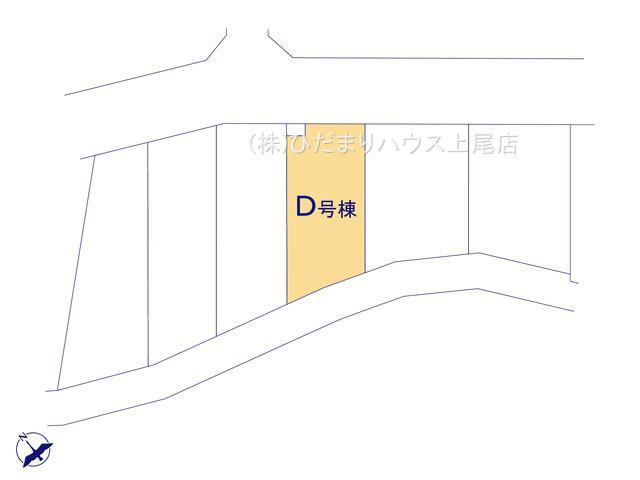【区画図】見沼区南中丸 第5期 新築一戸建て ハートフルタウン D