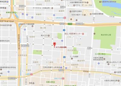 【地図】メゾン内久宝寺