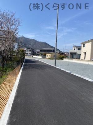 【前面道路含む現地写真】たつの市龍野町日飼Ⅱ/4区画