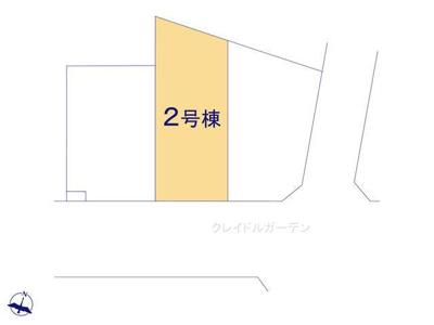 【区画図】クレイドルガーデン 新築戸建て 羽生東-全3棟-