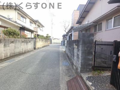 【前面道路含む現地写真】姫路市神子岡前4丁目/売土地