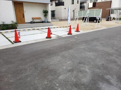 【前面道路含む現地写真】倉敷市中島 新築戸建て