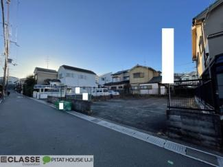 【前面道路含む現地写真】宇治市広野町尖山B号地 売土地