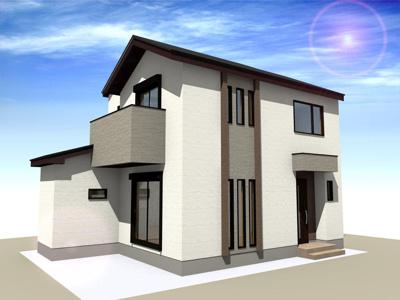 【外観】田中南西浦町 新築一戸建 抗菌・抗ウイルス仕様の家