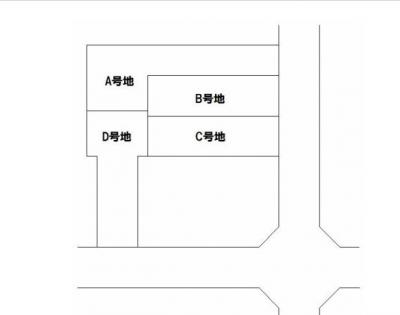 【区画図】北白川西平井町 新築戸建D号地