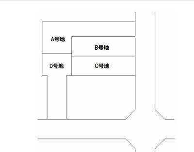 【区画図】北白川西平井町・田中高原町 新築戸建B号地