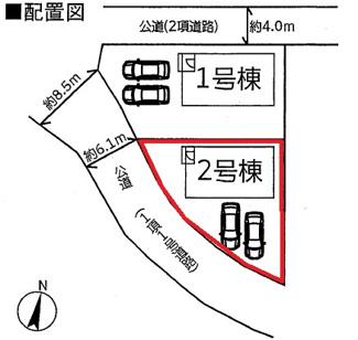 【区画図】カーテンプレゼントキャンペーン♪高崎市貝沢町新築一戸建
