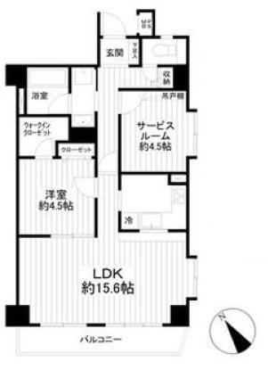 収納豊富な1SLDKのお部屋です。