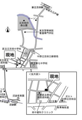 【地図】ミッテルドルフ江古田