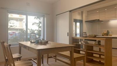 室内は、すごくオシャレで家具などを配置する際は、楽しくなる物件になります。