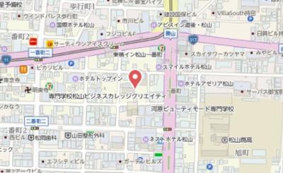 【地図】レーベン松山一番町 THE TOWER