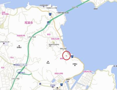 【地図】因島大浜町 中古戸建