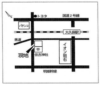 【地図】サングリーン大久保 貸店舗・事務所