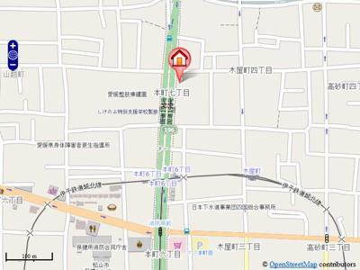 【地図】グランドハイム本町