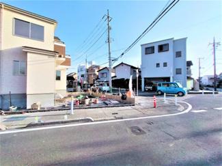 西側からの撮影 三郷市早稲田8丁目 新築戸建 (2021年2月現在)