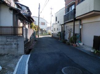 【前面道路含む現地写真】尼崎市塚口町 売土地