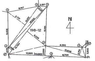 【土地図】鶴ヶ島市下新田 建築条件なし売地 「一本松駅」徒歩8分 敷地43坪