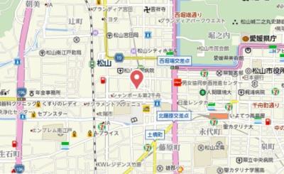 【地図】労住協千舟町ハイツ