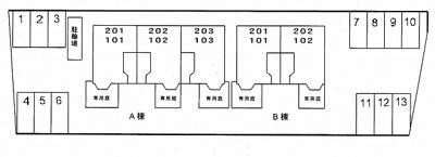 【区画図】ソレアード打越Ⅰ番館