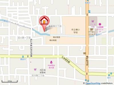 【地図】フォブールつばきA・B棟